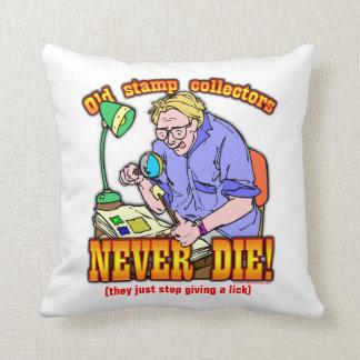 Stamp Collectors Throw Pillow