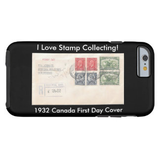 Stamp Collectors iPhone Case 1932 Canada FDC Tough iPhone 6 Case