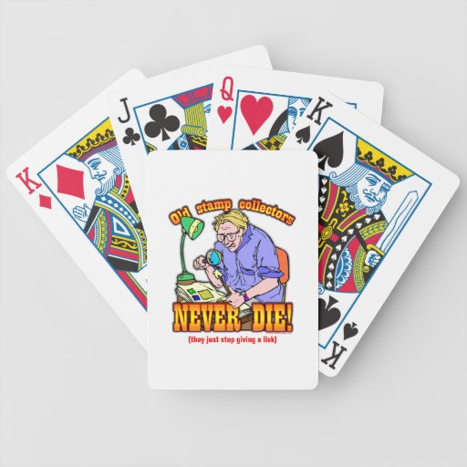 Stamp Collectors Poker Cards