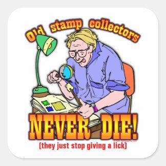 Stamp Collectors Square Sticker