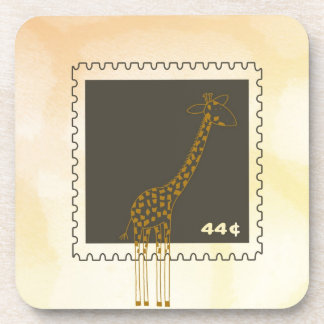 Stamp Giraffe Beverage Coasters