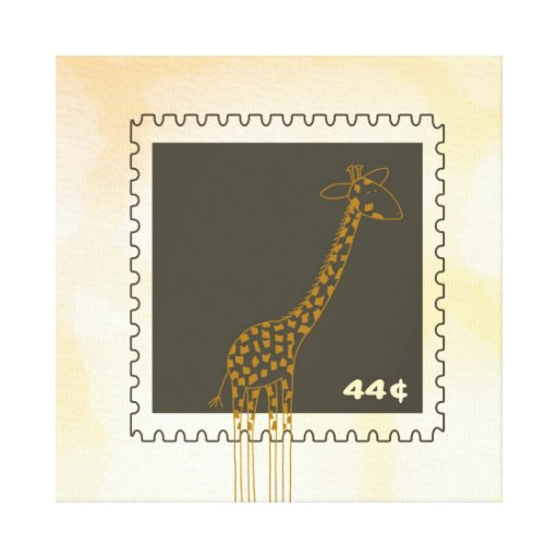 Stamp Giraffe Canvas Prints
