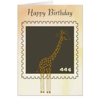 Stamp Giraffe Greeting Card
