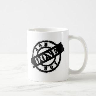 stamp Job done black Classic White Coffee Mug