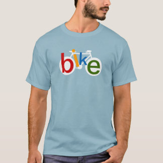 stamp of bicycle with color word BIKE T-Shirt