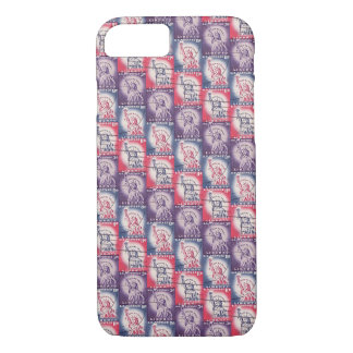 Stamp of Liberty Collage iPhone 7 Case