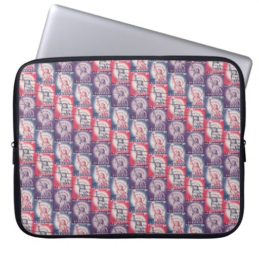 Stamp of Liberty Collage Laptop Sleeve
