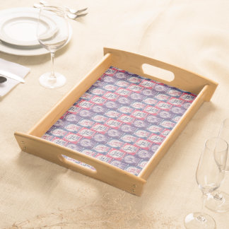 Stamp of Liberty Collage Serving Trays