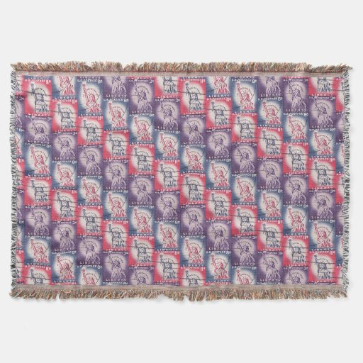 Stamp of Liberty Collage Throw