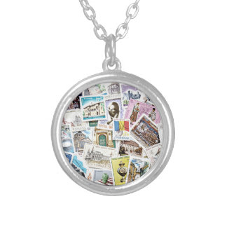 Stamp On Me Silver Plated Necklace