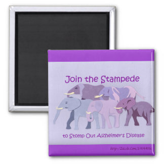 Stamp Out Alzheimer's Square Magnet