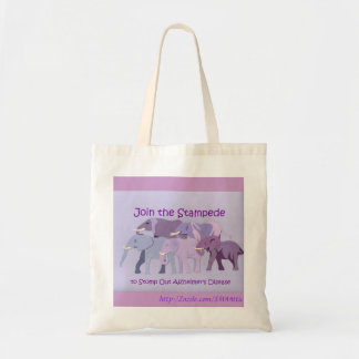 Stamp Out Alzheimer's Budget Tote Bag