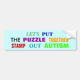STAMP OUT AUTISM BUMPER STICKER