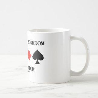 Stamp Out Boredom Play Bridge (Card Suits) Basic White Mug