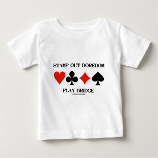 Stamp Out Boredom Play Bridge (Card Suits) Tee Shirts