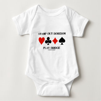 Stamp Out Boredom Play Bridge (Card Suits) Tshirt