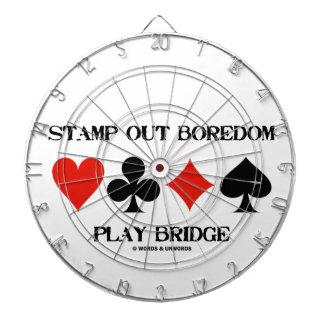 Stamp Out Boredom Play Bridge Four Card Suits Dart Board