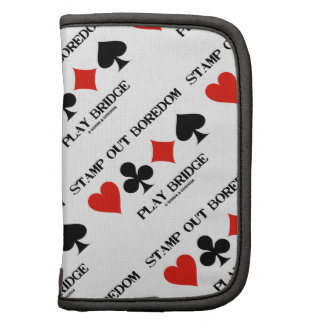 Stamp Out Boredom Play Bridge Four Card Suits Planner