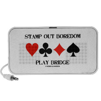 Stamp Out Boredom Play Bridge Four Card Suits iPod Speaker