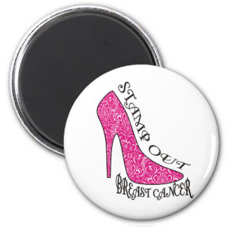 Stamp Out Breast Cancer 6 Cm Round Magnet