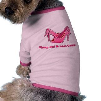 Stamp Out Breast Cancer Stilettos Doggie Shirt