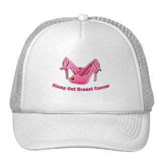 Stamp Out Breast Cancer Stilettos Mesh Hat