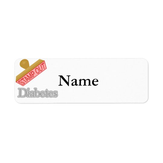 Stamp Out Diabetes Return Address Label