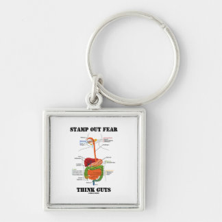 Stamp Out Fear Think Guts (Digestive System) Key Chains