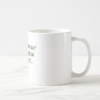 Stamp Out Fruit Cake Basic White Mug
