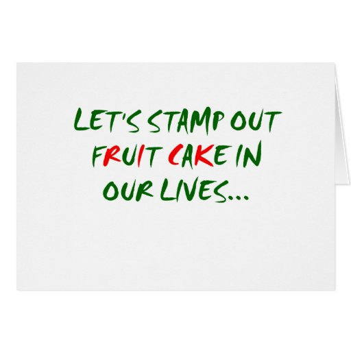 Stamp Out Fruit Cake Cards