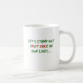 Stamp Out Fruit Cake Coffee Mug