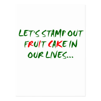 Stamp Out Fruit Cake Postcard