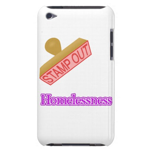Stamp Out Homelessness Barely There iPod Cases