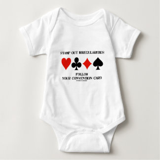 Stamp Out Irregularities Follow Convention Card Baby Bodysuit
