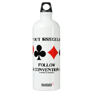 Stamp Out Irregularities Follow Convention Card SIGG Traveller 1.0L Water Bottle