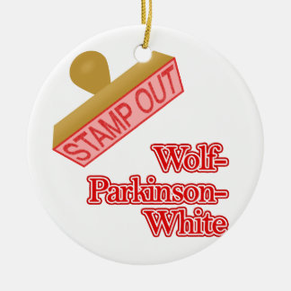 Stamp Out Wolf-Parkinson-White Christmas Tree Ornament