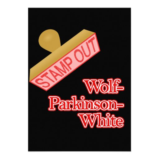 Stamp Out Wolf-Parkinson-White Custom Invitation