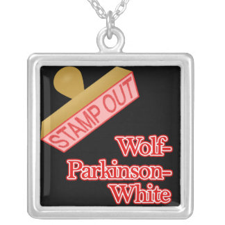 Stamp Out Wolf-Parkinson-White Square Pendant Necklace