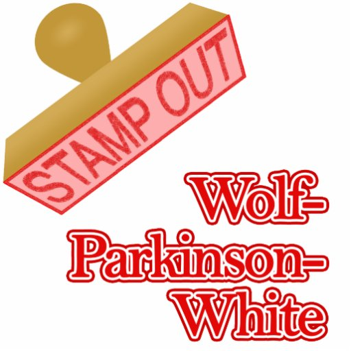 Stamp Out Wolf-Parkinson-White Acrylic Cut Outs
