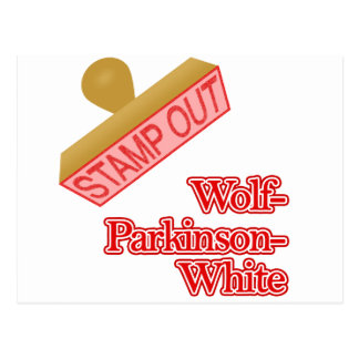 Stamp Out Wolf-Parkinson-White Postcard