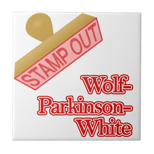 Stamp Out Wolf-Parkinson-White Ceramic Tiles