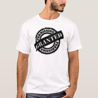 stamp permission granted black T-Shirt