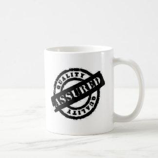 stamp qualitiy assured black mugs