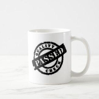 stamp quality passed black basic white mug