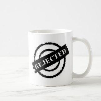 stamp rejected black classic white coffee mug