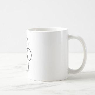 Stamp Style Flower Basic White Mug