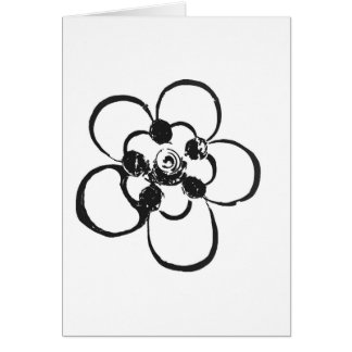 Stamp Style Flower Greeting Card