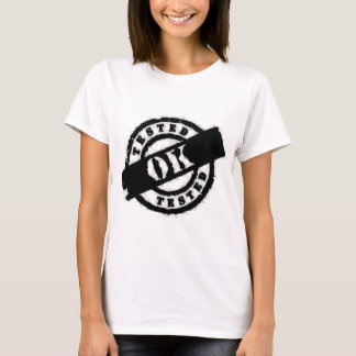 stamp tested Ok black T-Shirt