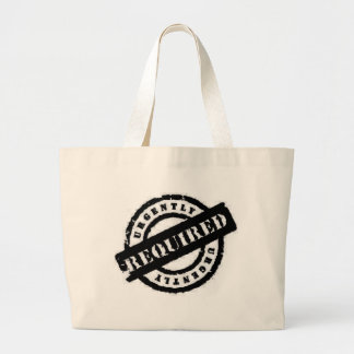 stamp ugently required black canvas bags
