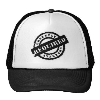 stamp ugently required black mesh hats
